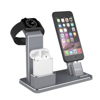 YFW Holder for Apple Watch 4 in 1 AirPods Accessories Charging Dock Phone Stand for iWatch Series 2/1/iPhone 7/7Plus/6s Plus/5s
