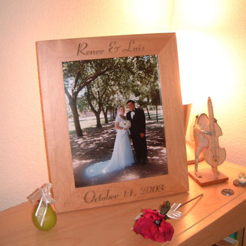 Personalized Engraved 8x10 Wedding Frame Gift by engravingwiz