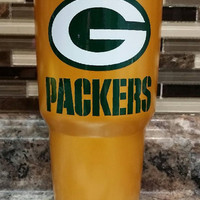 PC Green Packers Stainless Steel Tumbler/Ozark/RTIC/Packers stainless steel tumbler/Xmas gift/Xmas present/RTIC tumbler/Green tumbler/Packer