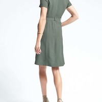 Belted Utility Shirtdress | Banana Republic