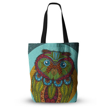 "Art Love Passion ""Owl"" Teal Multicolor Everything Tote Bag"