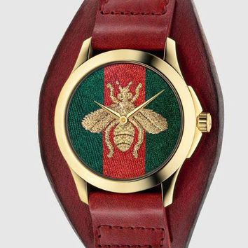 ac NOVQ2A GUCCI bee icon, fashion, hot sale watch L-PS-XSDZBSH Rose brown