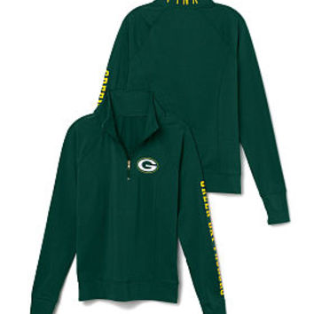 Green Bay Packers Athletic Half-Zip Pullover - PINK - Victoria's Secret