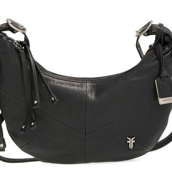 New with Tag - Frye Belle Bohemian Black Leather Crossbody Bag