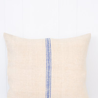 Antique Linen Pillow - Blue Stripe