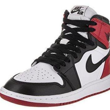 Nike Jordan Kids Air Jordan 1 Retro High OG Bg Basketball Shoe jordans black and whit