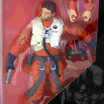 Star Wars Poe Dameron Black Series Action Figure.