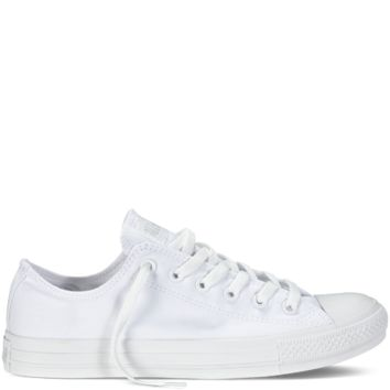 Converse - Chuck Taylor Monochrome Canvas - Low - White Monochrome