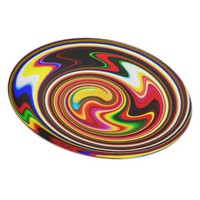 Magic Colorful Snail Dinner Plate