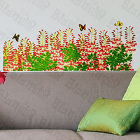 Flower Curtain - Wall Decals Stickers Appliques Home Decor
