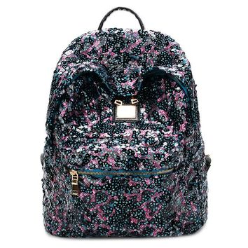 School Backpack trendy 2018 Glitter Backpack Women Sequins Backpacks For Teenage Girls Rucksack Fashion Female Gold Black School Sequin Bag AT_54_4