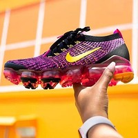 Nike Air VaporMax Flyknit 3.0 Fashionable Women Breathable Sport Running Shoes Sneakers Purple