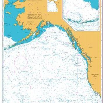 British Admiralty Nautical Chart  4050: North Pacific Ocean North Eastern Part