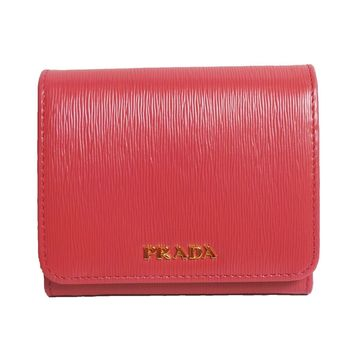 Prada Women's Wallet Vitello Move Bi Fold Pink 1MH176