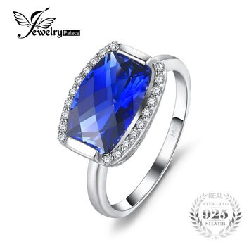 JewelryPalace Luxury 5.13ct Fancy Created Sapphire Party Ring 925 Sterling Silver Fine Jewelry 2017 Fashion Brand Unique Design