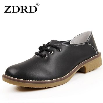 ZDRD Fashion Bowtie Loafers Candy  Women Flats Shoe Top Quality Leather Women Summer Style Shoes Solid Black Office Ladies Shoes
