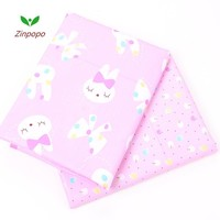NEW 2 pic/lot 40x50cm Cotton Fabric for Sewing Patchwork quilts Tissue baby dress Bedding tecidos DIY Doll cloth fabrics K213