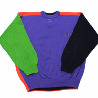 Vintage 90s Tommy Hilfiger Halloween Colorway Sweater Mens Size Large