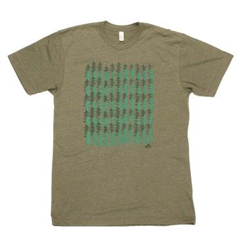 Forest Pattern - Mens T-Shirt
