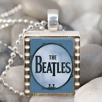 Scrabble Tile Pendant Beatles Pendant Beatles by IncrediblyHip