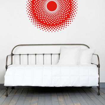 Wall Decal Vinyl Sticker Decals Art Decor Design Mandala Ornament Dots Pattern Style Yoga Modern Bedroom (r1369)