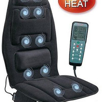 Relax Cushion Massager Heat Massage Chair Comfort Ten Motor Design Decor