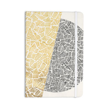 "Pom Graphic Design ""Inca Day & Night"" Gold Black Everything Notebook"