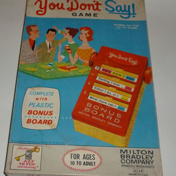 Vintage You Don't Say Board Game