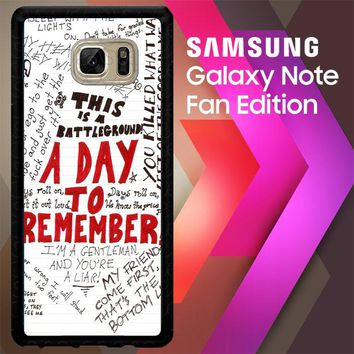 A Day To Remember Wallpaper Y0237 Samsung Galaxy Note FE Fan Edition Case