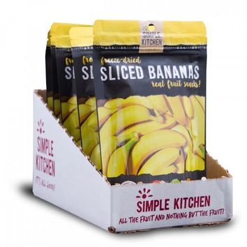 Simple Kitchen Freeze-Dried Bananas - 6 Pack