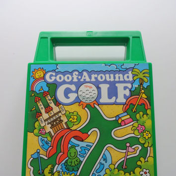Vintage Goof Around Golf Travel Board Game 1980