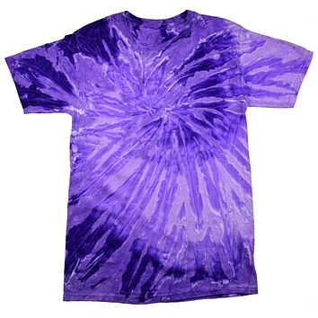 Tie Dye Shirt Multi Color Spiral Purple Light Purple T-Shirt