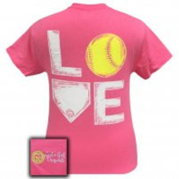 "Youth Girlie Girl - ""Softball"" Tee"