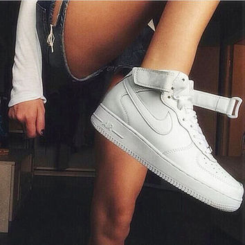 NIKE Women Men Running Sport Casual Shoes Sneakers Heudauo high tops White 93cf4e360b1a