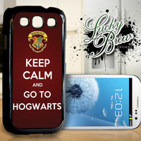 Samsung Galaxy S3 Hard Case - Harry Potter Keep Calm Go To Hogwarts  - Phone Cover