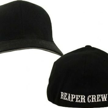 3138a3434e3 SOA Sons of Anarchy Reaper Crew Fitted Baseball Cap Hat - Sons of Anarchy -