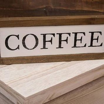 Coffee Framed Wooden Sign