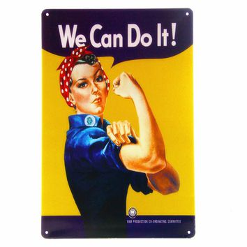 WE Can Do It Vintage Metal Signs Poster Retro Wall Decor Painting Bar Tin Signs Home Art Decoration Mix Order 20*30cm A355