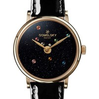 Gomelsky The Agnes Varis Solar System Leather Strap Watch, 32mm | Nordstrom