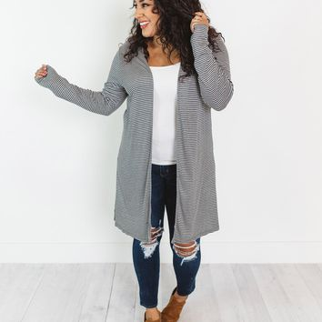 Chandler Stripe Ribbed Cardigan