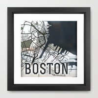 Boston Framed Art Print by Sophie Calhoun | Society6