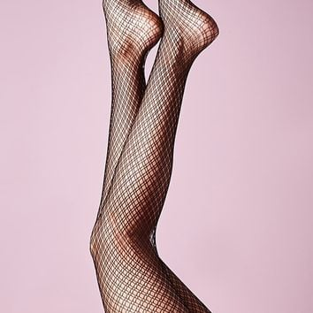 Leg Avenue Dual Plaid Net Tights