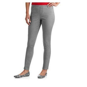 Faded Glory Women's Grey Flannel Jeggings, Grey, 14