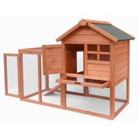 Merax Wooden Rabbit Hutch Bunny House Cage with Fence and Ramp - Walmart.com