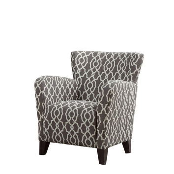 "Brown "" Bell Pattern "" Fabric Club Chair"