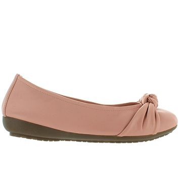Me Too Jaci - Cipria Sheep Leather Knotted Ballet Wedge