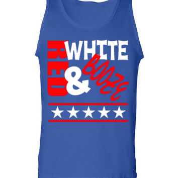'Red, White & Booze' Tank Top