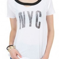 Chaser NYC Deconstructed Tee | DIANI Women's Designer Clothing and Shoe Boutique | Shop Online at dianiboutique.com