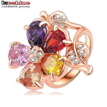 Valentines Gift 18K Rose Gold Plated Engagement Rings