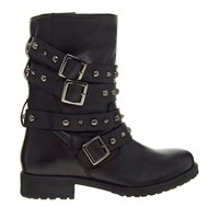 ASOS ANYTIME Leather Biker Boots